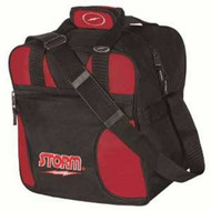 "Storm's newest Single Ball Tote bag that holds shoes as well.  600 Denier Polyvinyl Fabric Accessory Storage Pocket Internal Shoe Pockets Accept up to U.S. Men's Size 15 Adjustable Non-Slip Shoulder Strap Reinforced Zippers & Stitching Foam Base 2-Color Embroidered Logos Dimensions: W:12"" x D:11"" x H:13""  1-Year Warranty"
