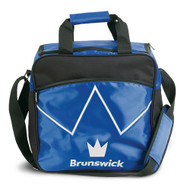 The Brunswick Blitz Single Tote is a convenient tote for you if you are needing something for your ball and a place to store your shoes. This bag also features a front zippered accessory pocket for your bowling accessories!  Color: BluePadded, adjustable shoulder strapFront zippered accessory pocketShoe ShelfHolds up to size 14 shoesRemovable foam ball holderEmbroidered logos600D / 840D FabricsEmbroidered logosWarranty: 2 year limited manufacturer's warranty