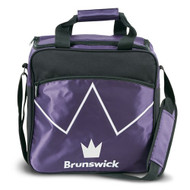 The Brunswick Blitz Single Tote is a convenient tote for you if you are needing something for your ball and a place to store your shoes. This bag also features a front zippered accessory pocket for your bowling accessories!  Color: PurplePadded, adjustable shoulder strapFront zippered accessory pocketShoe ShelfHolds up to size 14 shoesRemovable foam ball holderEmbroidered logos600D / 840D FabricsEmbroidered logosWarranty: 2 year limited manufacturer's warranty
