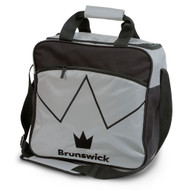 The Brunswick Blitz Single Tote is a convenient tote for you if you are needing something for your ball and a place to store your shoes. This bag also features a front zippered accessory pocket for your bowling accessories!  Color: SilverPadded, adjustable shoulder strapFront zippered accessory pocketShoe ShelfHolds up to size 14 shoesRemovable foam ball holderEmbroidered logos600D / 840D FabricsEmbroidered logosWarranty: 2 year limited manufacturer's warranty