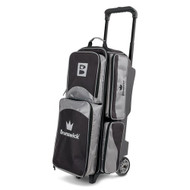 The Brunswick Edge Triple Roller is top of the line. This bag features 5 inch PVC wheels, three different accessory pockets and a separate shoe compartment that can store shoes up to a men's size 15 shoes. Brunswick also offers a 5 year limited manufacturer's warranty.  Color: SilverPremium flush retractable handle system5 inch PVC wheelsTwo side accessory pocketsSeparate shoe compartment that holds up to men's size 15 shoeSeparate large top accessory pocketEmbroidered logos600D / 840D FabricsWarranty: 5 year limited manufacturer's warranty