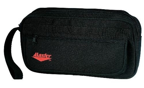This bag is great for storing your grip sacks, microfiber cloths, tape, bowlers tools and other miscellaneous bowling items!  Constructed of rugged black tear-resistant Denier polyester fabricDurable case with heavy-duty zippers and double reinforced seamsTwo-zippered wet/dry compartmentsZip front pocket and see-thru mesh rear pouch for storing easy to access bowling tools