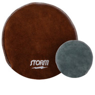 Storm has taken the traditional shammy pad and bumped it up to a new level. The Storm Deluxe Shammy is dual sided. One side is used to wipe your bowling ball between shots and the other side is used to deep clean your ball between games.  SOLD INDIVIDUALLY  Color: Brown/GreyGrey side to clean your ball between shotsBrown side for deeper cleaning at the end of your sessionDeluxe overlock stitchingFine dual leathersFunctions like a mitt