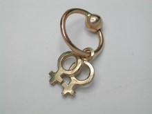 9ct Gold Female Symbol Belly ring.