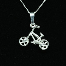 Sterling Silver Mountain Bike Necklat