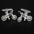 Sterling Silver Mountain bike Cuff Links