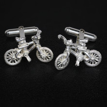 Sterling Silver Mountain bike Cuff Links