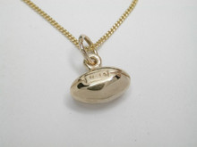 9ct Gold Solid Football Necklat