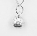 Sterling Silver Round Soccer Ball Necklat