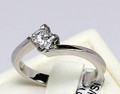 18ct White Gold Princess Cut,(.46ct) Diamond Ring 1683