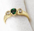 9ct Emerald & Diamond Ring