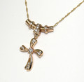 Hand made Diamond Set Cross with chain,SPECIAL !