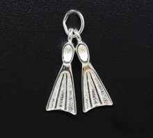 Sterling Silver Fins Charm