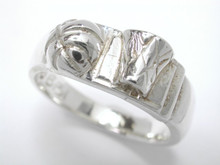 Sterling Silver Basketball Ring Lightweight Ladies 7mm