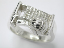 Sterling Silver Ladies Volleyball Ring 10mm