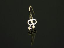 9ct Gold Single Male Drop Hook Earring