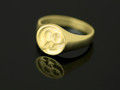 9ct Gold Male Circle Cignet Ring