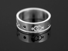 Silver Male Gender Commitment & Friendship Ring with 2 Black Diamonds