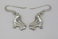 Sterling Silver Roller Derby Drop Earrings