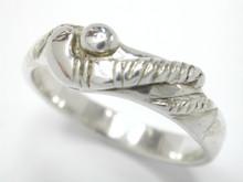 Silver Lightweight Stick & Ball Ring