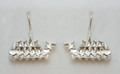 Sterling Silver Dragon Boat Drop Earrings S-2230