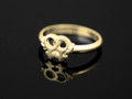 9ct Gold Female Gender Symbol Ring(nominate colours) G-74-1033