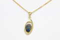18ct solid black opal pendant