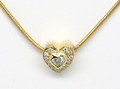 18ct Heart .10ct diamond plus pave set diamonds