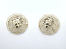9ct yellow gold Basketball Studs Half Dome Earrings 8mm