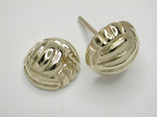 9ct yellow gold Netball Studs Half Dome Earrings 8mm