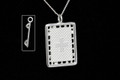 Silver Trampoline Plain Necklat 25mm