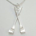 Silver Oars Necklat 40mm on a complimentary chain