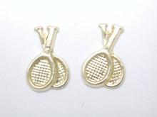 9ct Yellow Gold Double Racquets Stud earrings