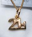 9ct Gold Half Marathon Necklat G-RU1657