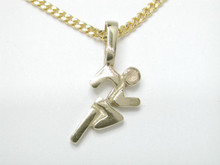 9ct yellow gold Large Runner Necklat 15mm