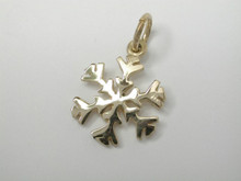 9ct yellow gold Snowflake Small Charm 11mm