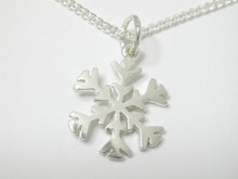 Sterling Silver Large Snowflake Charm 16mm