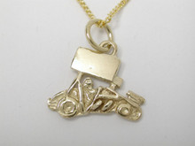 9ct yellow gold Sprint Car Small Necklat