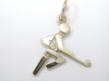 9CT Yellow Gold Player Figure Charm 16mm