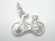 Sterling Silver Small Tri Bike Charm 12mm