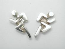 Sterling Silver Mini Runner Studs Earrings 10mm