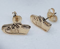 9ct yellow gold Running Shoes Studs