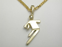 9ct Gold 'Touch Football' Necklat