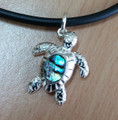 SterSilver Handcrafted Turtle with Paua Shell  DS3359