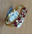 18ct NATURAL Ruby & diamond ring 1471