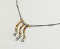9ct T/T Fancy Diamond necklace -Make an Offer