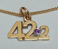 9ct Gold 42.2 Necklat with Stone Set 1603 StSet