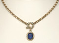 9ct Gold Belcher Chain with Opal Triplet Enhancer 1282