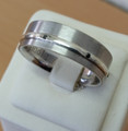 SUPER stylish Commitment ring- 7 black diamonds