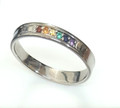 9ct Gold Rainbow wedding ring 1736